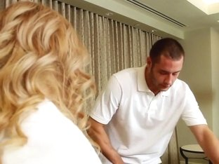 Dirty Masseur: Filthy Footjob for Room Service