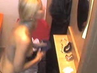Great video with this blonde undressing for a tanning session