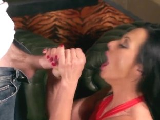 Sexy brunette babe Sandra Romain loves to get entertained by a big cock