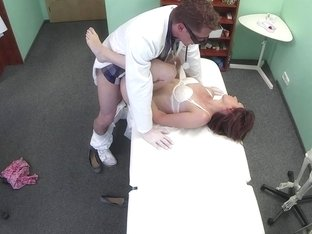 Real patient creampied by her lucky doctor