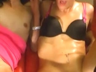 Two great chicks banged and facialized