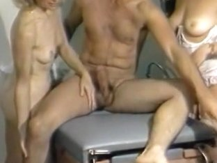 Horny quickie from the blonde nurse