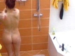 Large brother czech -Marcela undressed shower