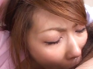 Hot nurse blows cock dripping cum from her mouth Aya Sakurai