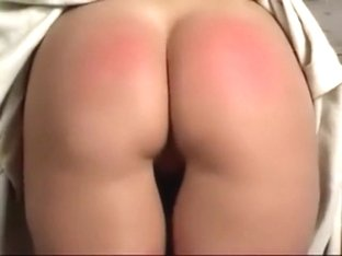 Vintage Blonde Caned on the Ass