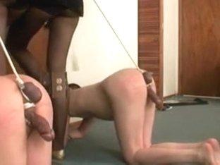 Femdom dilettante porn with floozy booty-fucking my a-hole