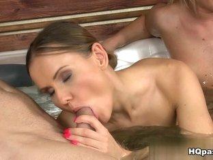 Fabulous pornstars Lindsey Olsen, James Brossman in Crazy Facial, Group sex porn clip