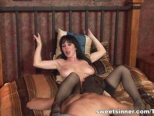 Horny pornstar in Incredible Brunette, Pornstars sex video