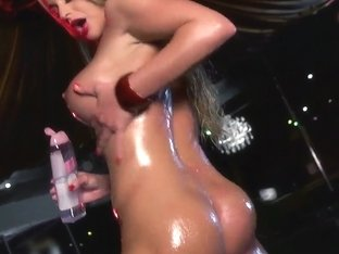 Cathy Heaven's Tight Ass Gets Rammed While She's Oiled Up