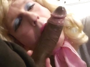 Sissy crossdresser Annette takes on two cocks 1of3
