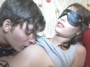 Blindfolded babe tricked and pussyfucked