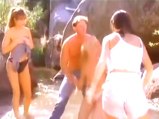 Classic Catfights-Topless Catfight in Lake Scene