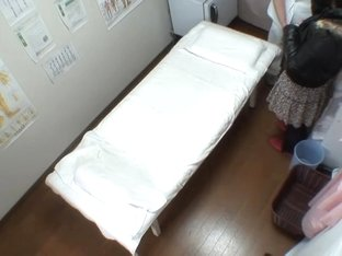 Big booty Japanese caught in a voyeur massage video