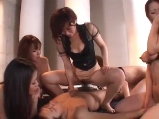 Hottest Japanese whore Yumi Kazama, Chisato Shouda, Honami Takasaka in Incredible Face Sitting, Pi.