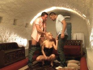 Incredible pornstar Niky Gold in crazy dp, threesome sex clip
