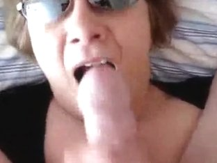 Mature bitch with big melons was passionately facialized