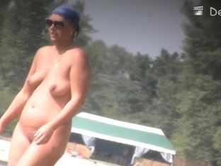 Nudist beach with horny, naked women, their boyfriends and beer