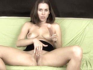 My hot broad masturbates with toys