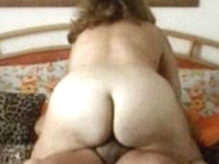 Chubby wife riding dick