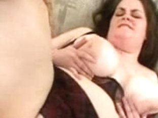 big beautiful woman Dark Brown 3Some With two Dudes
