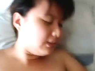 Asian girl has oral and missionary sex and swallows cum pov