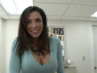 Huge tits Ariella Ferrera dominates hory guy and makes him lick her