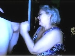 Russian granny flashing giant bazookas n engulfing spouse  cam