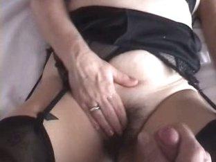 Hairy pussy fingered hard
