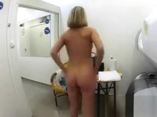 Lucky Older Guy Groping A Sexy Russian Blonde
