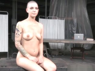 Tattooed Bald Sub With Pierced Cunt Kidnapped
