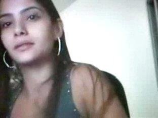 Horny latina girl masturbates