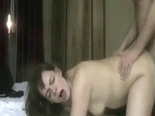 Chubby woman fucked in doggy style