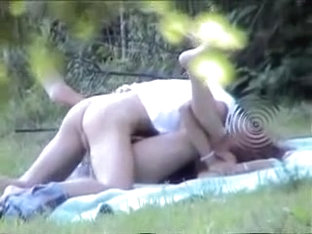 Voyeur captures couple fucking in the park.avi