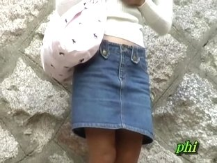 Captivating Japanese princess gets stunned when someone snatches her skirt