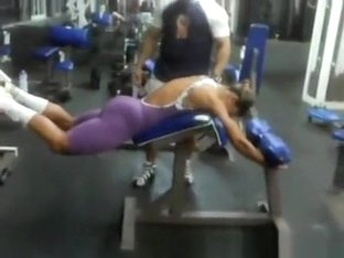 Strong girl at gym