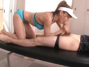 Best Japanese slut Tina Yuzuki in Fabulous Blowjob/Fera, Sports JAV movie