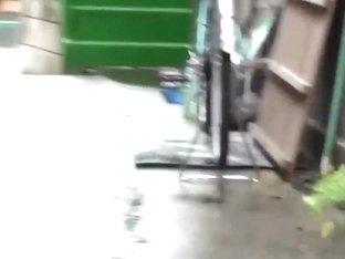Bizarre asian piss street