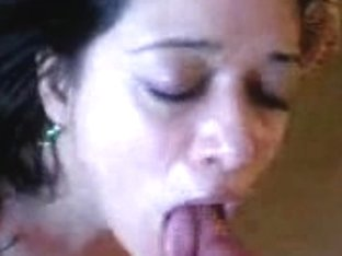 Hot Latina mature woman giving nice mouthjob and gets a facial