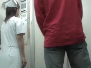 Real medical worker got her uniform sharked on cam