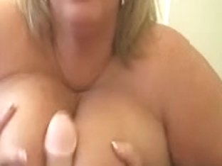 Large Titted Neighbour Claire Sucks Fake Penis For Massive Load