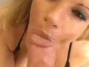 Krystal Summers eats cum after sexy bj
