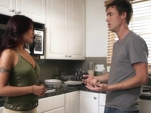 Kaylani Lei gets her pussy licked in living room