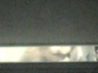 Amateur in the black bra spied through window slit