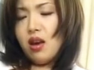 Hawt Oriental doctor squirts as this babe masturbates