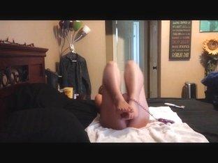 Sexy slut rides a dildo