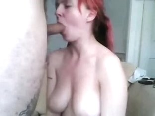 Redhead CamSlut gets her mouth hard fucked