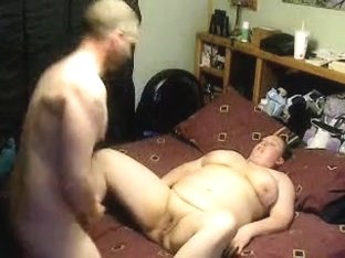 Younger man fucks chubby woman