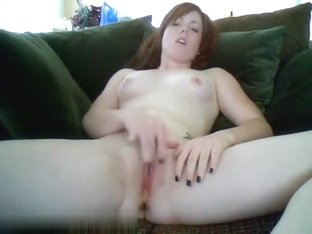 Tattooed pale webcam girl fingering