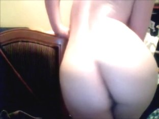 Cute booty smack + playing with myself standing up