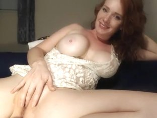 Redhead with braids and blonde milf using toys on each other Part 01